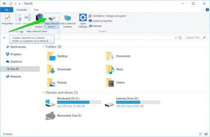 How to Map a Network Drive Windows 10?