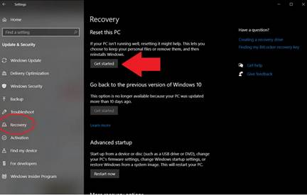 How to factory reset Windows 10?