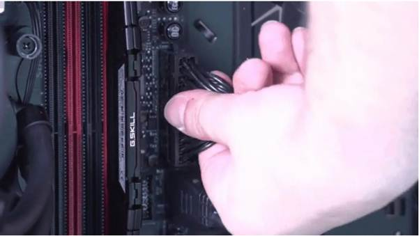 Sticking the motherboard cables in the wrong way